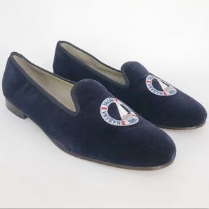 Stubbs & Wootton | Navy Yacht Club Smoking Loafer